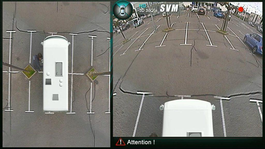 Vue drone de camping-car avec Odona