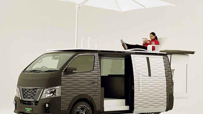 Van avec terrasse Nissan