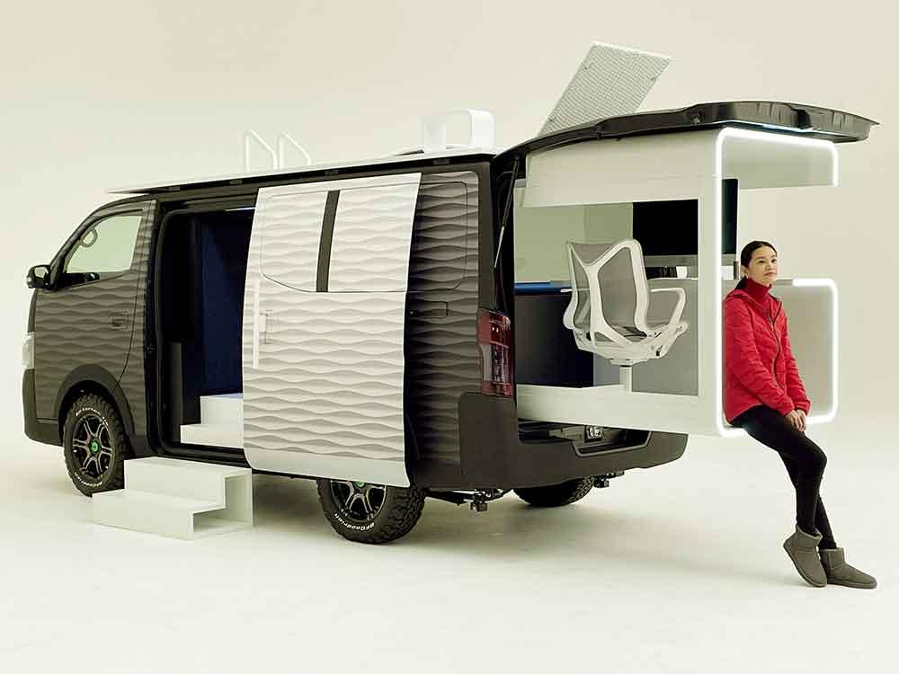 Van avec bureau